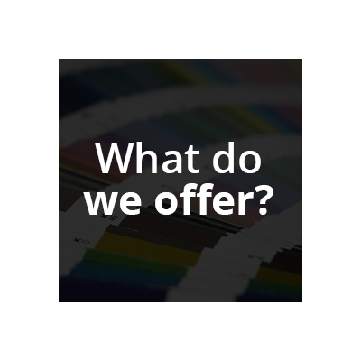 What do we offer? Gain an overview of the solutions we offer. Anything is possible.